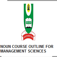 NOUN COURSE OUTLINE FOR MASTER OF PUBLIC ADMINISTRATION (MPA)