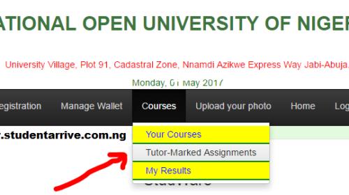 National Open University Of Nigeria NOUN TMA Submission
