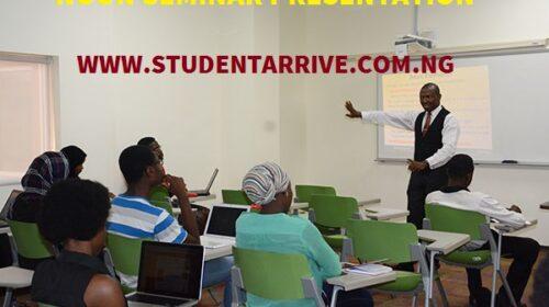 NOUN Seminar Presentation