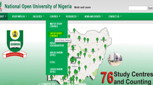 List of NOUN Approved Study Centres in Nigeria